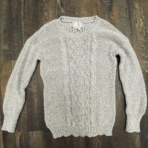 Cablenet Sweater -Gray